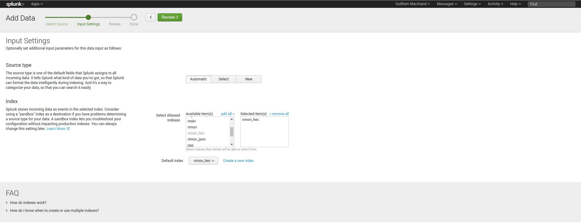 Splunk HEC / nmon-logger deployment — Nmon Performance