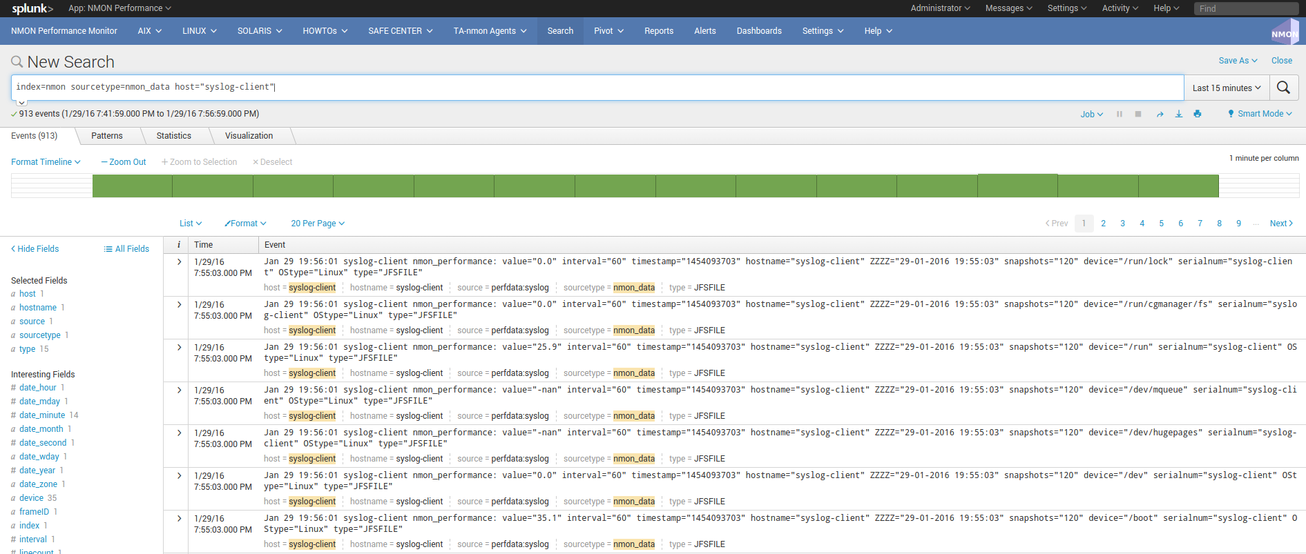rsyslog / nmon-logger deployment — Nmon Performance monitor